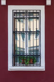 Windows with iron bars — Stock Photo