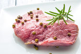 Beef with green pepper — Stock Photo