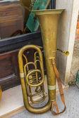 Old trombone — Stock Photo