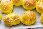 Homemade bread with sesame — Foto Stock