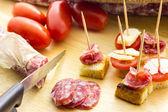 Finger food salami — Foto Stock