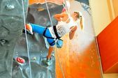 Competitions in rock climbing — Stock Photo
