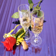 Wine and rose — Stock Photo #13974225