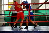 October 18, 2012, Russian Championship in boxing among women, the city of O — Stock Photo