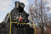 Elements of the steam locomotive — Stock Photo