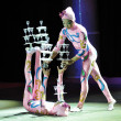 Chinese circus, 29.10.2012, city of Orenburg, Southern Ural, Russia - Stockfoto