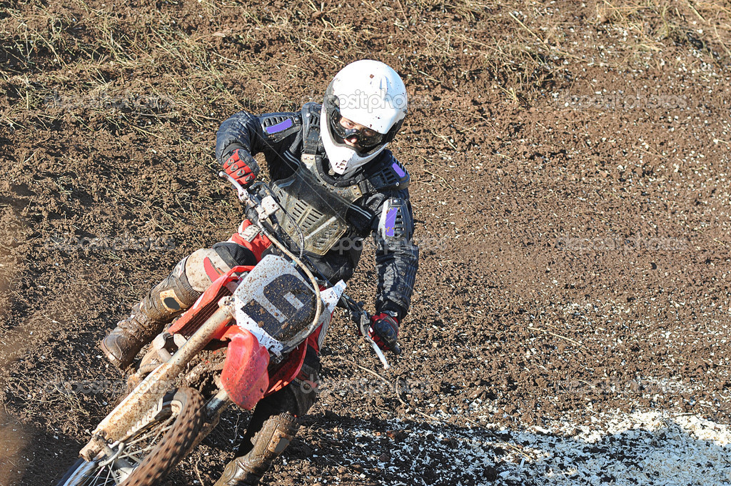 Motocross Junior Championships, city of Orenburg, Southern Ural, Russia  Stock Photo #17004233