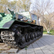 Self-propelled gun mount — Stock Photo