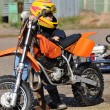 Motocross is a young athlete to 4 years — Stock Photo #17971861