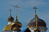 The dome of the Orthodox Church on the border between Europe and Asia — Stock Photo