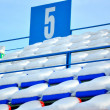 Rows of chairs the ice stadium — Stock Photo