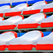 Stock Photo: Rows of chairs the ice stadium