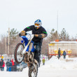 Winter Motocross competitions among Juniors — ストック写真