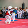 Taekwondo competitions between children — Stockfoto