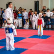 Taekwondo competitions between children — Stock fotografie