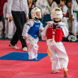 Taekwondo competitions between children — Stock Photo