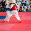 Stock Photo: Taekwondo competitions between children