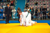 Judo competitions among adolescents — Stock Photo