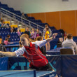 Table tennis competition among girls — Foto Stock
