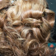 Stock Photo: Details of ladies hairstyles