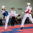 Samoobrona without arms - Taekwondo is a Korean martial art - Foto de Stock