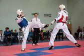 Samoobrona without arms - Taekwondo is a Korean martial art — Stock Photo