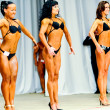 Bodybuilding competitions among women — Stok fotoğraf