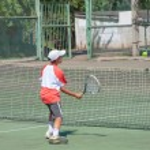 Championship tennis among Juniors — Stock Photo
