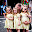 Twins at the Festival — Stock Photo
