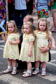 Triplets at the Festival — Stock Photo