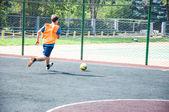 Toernooi op mini voetbal — Stockfoto