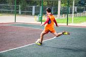 Tournament on mini-football — Stock Photo