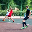Tournament on mini-football — Stock Photo