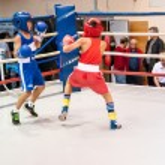 Boxing among adolescents — Stock Photo