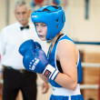Competition Boxing between girls — Foto Stock