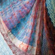 Openwork of Orenburg downy shawl — Stock Photo