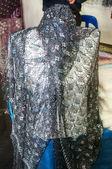 Openwork of Orenburg downy shawl — Stock Photo