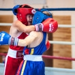 Competitions Boxing among Juniors — Stock Photo #33544895
