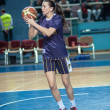 Competitions Basketball among girls — Stockfoto