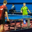 Table tennis competitions between pairs — Stock fotografie