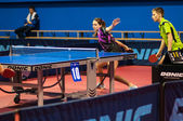 Table tennis competitions between pairs — Stock Photo