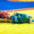 Sambo or Self-defense without weapons. Competitions girls — Stockfoto