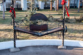 The bench of reconciliation in Orenburg — Stock Photo