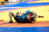 Sambo or Self-defense without weapons. Competitions girls. — Stock Photo