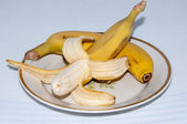 Bananas quench hunger, provide organism energy and nutrients — Stock Photo