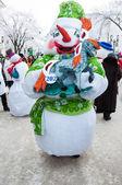 Concorso di capodanno di pupazzi di neve. — Foto Stock