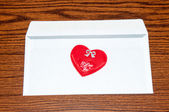 Heart in envelope. Happy Valentines Day — Стоковое фото