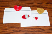 Heart in envelope. Happy Valentines Day — Stockfoto