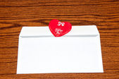 Heart in envelope. Happy Valentines Day — Stock Photo