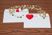 Heart in envelope. Happy Valentines Day — Stockfoto